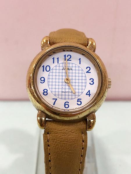 【震撼精品百貨】Hello Kitty 凱蒂貓~日本精品手錶-格子 ALBA錶#52088