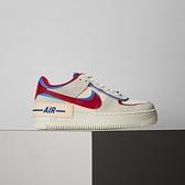 Nike AF1 Shadow 女鞋 灰紅藍 經典 簡約 拼接 休閒鞋 CU8591-100