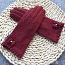 針織手套女 克拉斯卡 季新品女士羊毛觸屏手套日系針織薄款開車手套 快速出貨