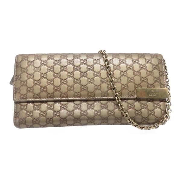 GUCCI 古馳 金色牛皮鍊包 Wallet Chain Shoulder Bag 269541【二手名牌BRAND OFF】