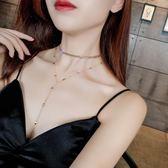 歐美性感多層鎖骨鍊個性網紅脖子飾品項圈頸鍊短款項鍊女