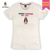 Hush Puppies T恤 女裝美式休閒植絨印花刺繡狗T恤