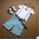 男童夏裝套裝2018新款韓版夏季短袖T恤兩件套