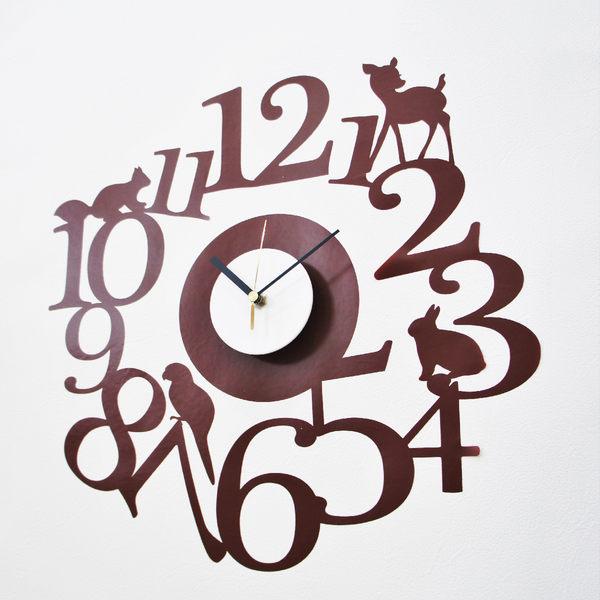 時鐘壁貼【WD-137 破曉森林】創意壁貼 無毒無痕 不傷牆面 創意壁貼 英國設計