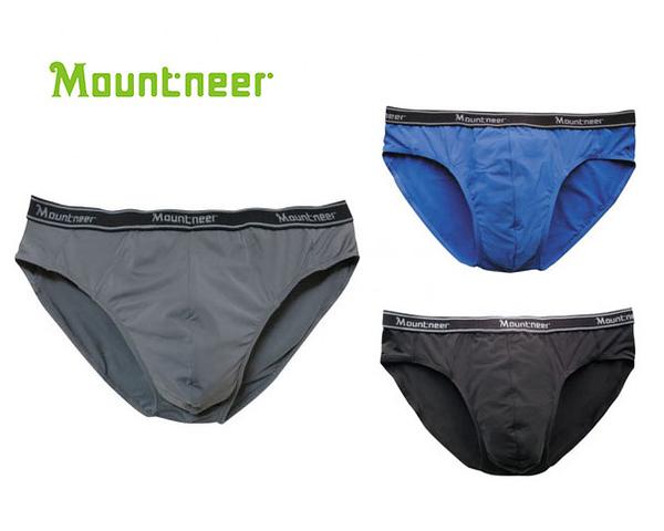 丹大戶外【Mountneer】山林休閒 男排汗三角內褲 11K83 黑/深鐵灰/寶藍