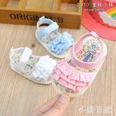 19夏寶寶涼鞋女寶寶鞋子0-1歲嬰兒布鞋軟底防滑學步鞋6-12個月新9 aj10616『小美日記』
