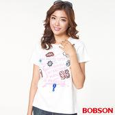 BOBSON 女款貼繡圖案上衣(27088-81)
