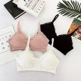 夏季新品日系少女舒適g蕾絲邊內衣裹胸親膚零束縛薄款 交換禮物