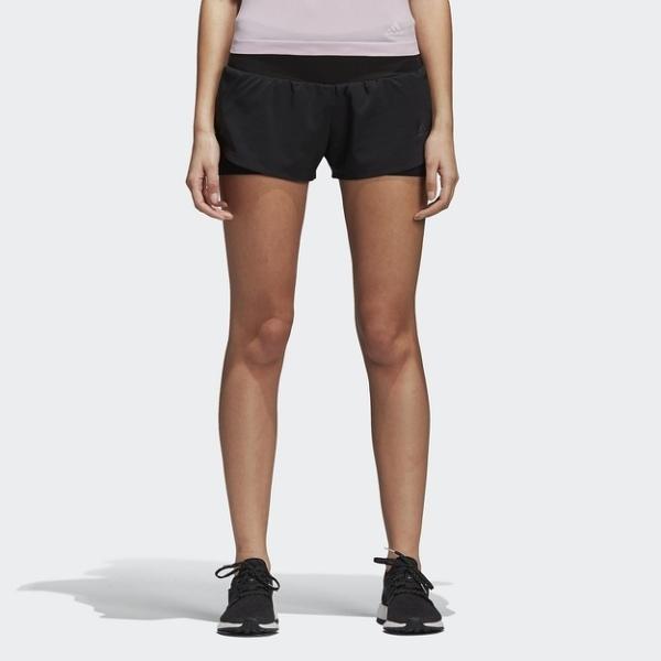ADIDAS 短褲 RUNNING ULTRA SHORT W 黑 透氣 慢跑 女 (布魯克林) CY6323