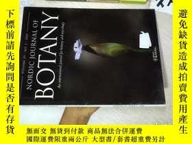 二手書博民逛書店NORDIC罕見JOURNAL OF BOTANY 2011 1