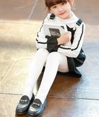 兒童褲襪 兒童連褲襪加絨加厚女童打底褲春秋冬中厚白色跳舞練功專用舞蹈襪