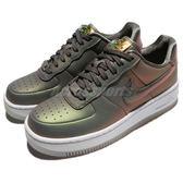 【六折特賣】Nike 休閒鞋 Wmns AF1 Upstep PRM LX 灰 白 彩色 金龜子 女鞋【PUMP306】 AA3964-001
