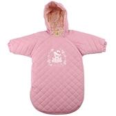 【愛的世界】純棉玫瑰小熊防風鋪棉連帽長袖防踢睡袍/睡袋-台灣製- ---用品推薦