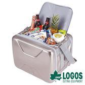 LOGOS 斷熱海霸超凍箱L-銀 81670080 冷藏 行動冰箱 露營 野餐 保鮮 保冰 母奶包 釣魚