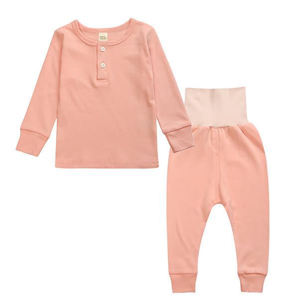 超低折扣NG商品~馬卡龍兒童長袖套裝 寶寶秋冬童裝 保暖棉質上衣褲 SK9211 好娃娃