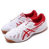 Asics 桌球鞋 Attack Hyperbeat SP 3 白 紅 膠底設計 運動鞋 男鞋 女鞋【PUMP306】 1073A004101