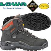 Lowa 310945-9074灰/磚紅 男Gore-Tex中筒多功能健行鞋 Renegade Mid GTX黃金大底登山鞋/郊山鞋