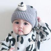 兒童帽子 兒童帽子冬季小寶寶毛線帽6-12個月可愛男女童針織帽棉襯