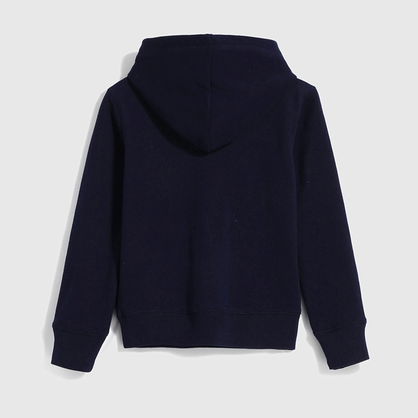 Gap女童 Logo漸層風格連帽休閒上衣 618790-海軍藍
