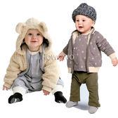 加絨加厚保暖寶寶外套 雙面穿嬰幼兒棉襖 CA3301 好娃娃