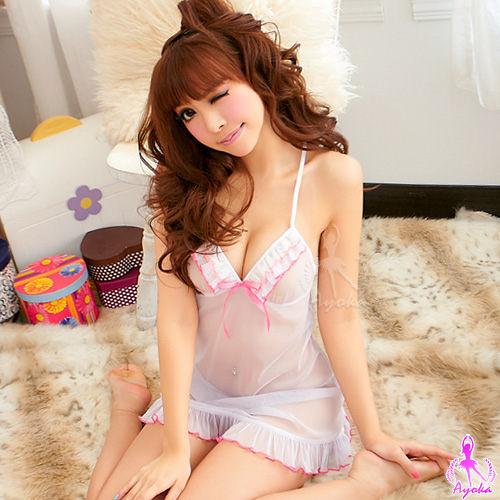 i 享受情趣精品-()美麗依偎!柔紗二件式睡襯裙/ 鋪棉外套