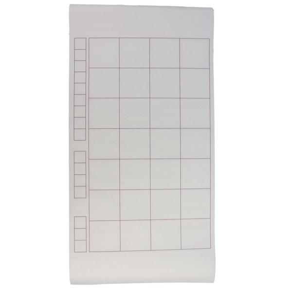 28格書法紙 白宣紙 書法比賽用紙 4排(紫)/一小捲6張入{定35} 有落款小格 天成 白毛邊紙
