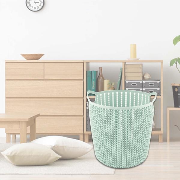 麻花創意籃-小圓 紙林 垃圾桶 紙簍 收納籃