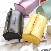 北歐創意現代簡約美式餐邊桌紙巾盒家用客廳家居裝飾歐式收納抽紙盒 快速出貨