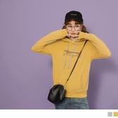 《KG0711》LOVE系列~高含棉連帽可愛臘腸狗圖案印製衛衣上衣 OrangeBear