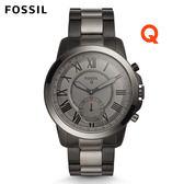 FOSSIL Q Grant黑灰色不鏽鋼指針式智慧手錶 男 FTW1139