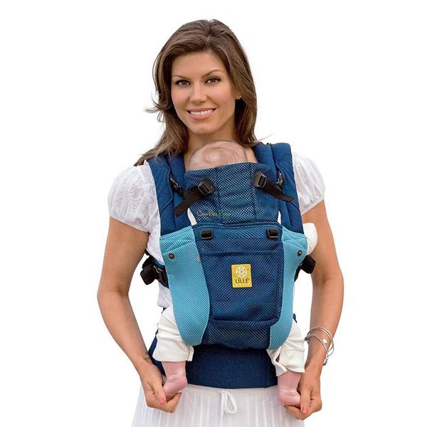 美國 Lillebaby Complete系列 Airflow 3D 透氣款背巾|背帶 藍