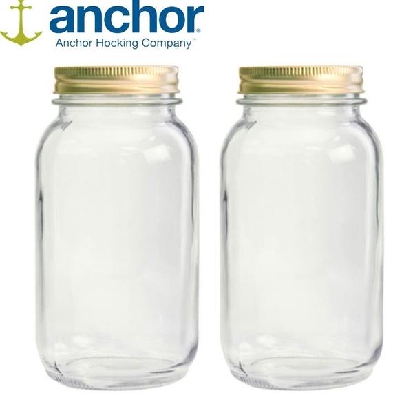 美國 Anchor MASON Jar梅森玻璃罐 960ml 二入組 A-10986-2