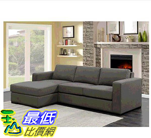 [COSCO代購] W117581 Hometrend L型布沙發 Hometrend Jillian Fabric