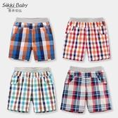 兒童短褲  外穿薄款寶寶純棉格子褲兒童夏季休閒嬰兒五分褲  莎瓦迪卡