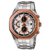 CASIO EDIFICE  迅黑時尚計時腕錶(白)