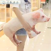 新年禮物-玩偶-創意仿真母豬抱枕毛絨玩具-75*40cm