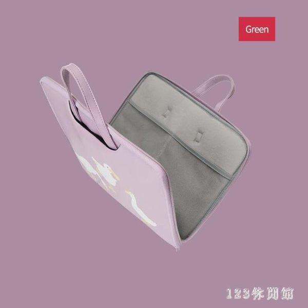 筆電包筆記本電腦包14內膽小清新可愛女手提包休閒易攜13吋蘋果mac小米LB15745【123休閒館】
