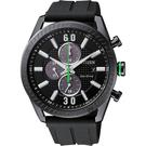 CITIZEN 星辰 光動能渦輪時尚計時手錶-黑/ 43mm CA0667-12E