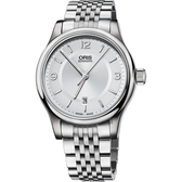 Oris 豪利時 Classic Date 都會時尚機械錶-銀/42mm 0173375944031-0782061