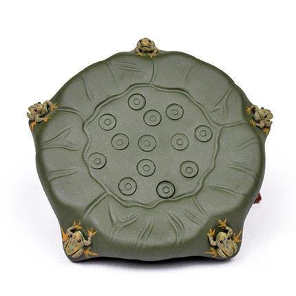茶道配件 五子登科 養壺墊(綠色)