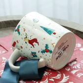 馬克杯美式厚實大容量金色圣誕雪人陶瓷早餐杯馬克杯杯子水杯創意限時特惠下殺8折