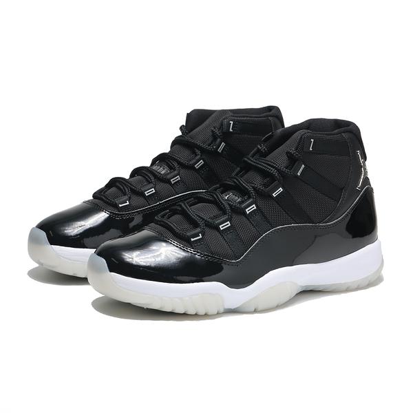 NIKE 籃球鞋 AJ11 JUBILEE 大魔王 AIR JORDAN 11 25周年 黑銀 高筒 男 (布魯克林) CT8012-011