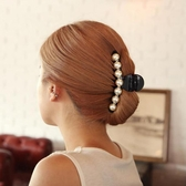 髮抓飾品髮飾髮夾可愛正韓頭飾髮卡子人造珍珠大號髮抓抓夾豎夾【8折鉅惠】