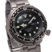 [萬年鐘錶]  SEIKO   PROSPEX 深海300米專業潛水錶 不鏽鋼殼+錶帶 黑x銀 7C46-0AG0C  (SBBN031J)
