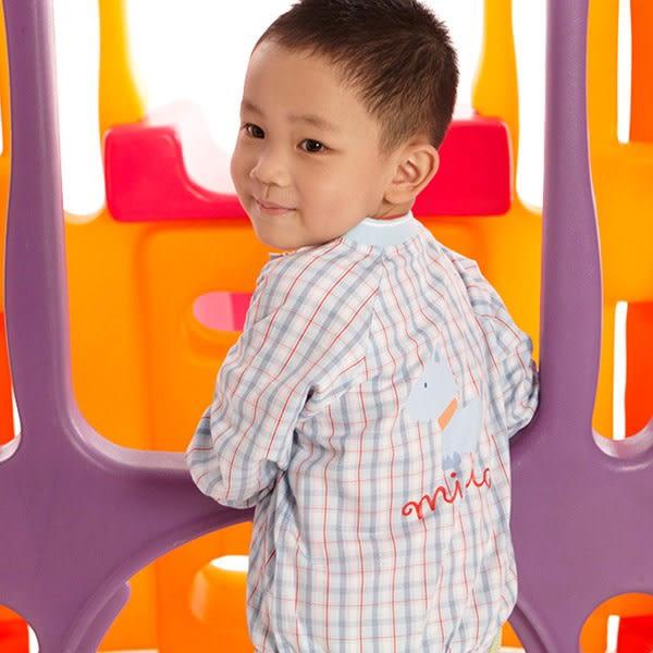 【愛的世界】純棉格紋長袖薄外套/2歲/4歲-台灣製- ★春夏外套 outlet零碼