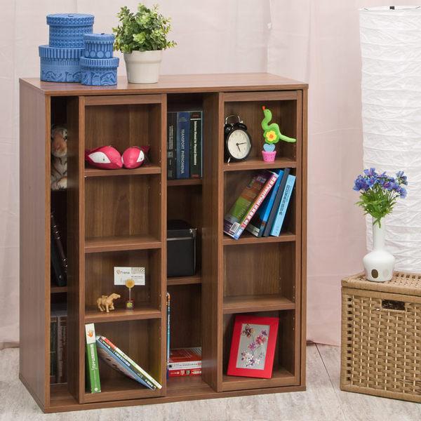 書櫃 書架 收納【收納屋】簡約雙排活動書櫃-二色可選&DIY組合傢俱