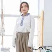 【Tiara Tiara】百貨同步ss 優雅清新風配色長袖上衣(白)