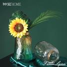 北歐風漸變色玻璃花瓶透明干花插花創意客廳水養花器餐桌裝飾擺件 聖誕節全館免運
