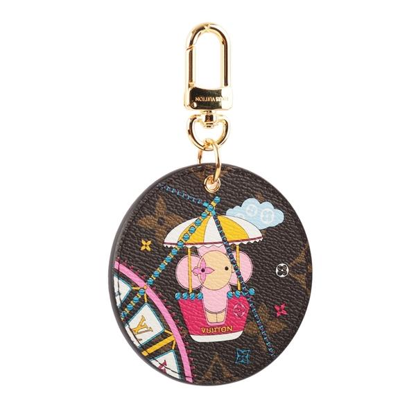 【LV】Vivienne玩偶圖案聖誕節款式吊飾/鑰匙圈(芭蕾粉) M69855