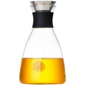 美斯尼 玻璃涼水壺家用耐高溫水瓶套裝玻璃茶壺大容量果汁冷水壺